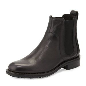 Vince Connor Black Leather Chelsea Boot 8.5